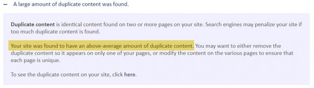 Duplicate content 1
